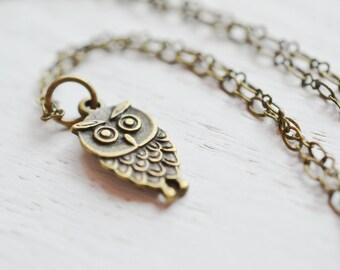 Owl Necklace, Owl Jewelry, Owl Charm Necklace, Tiny Owl, Animal Jewelry, Cute, Baby Owl Necklace, Charm NEcklace, Owl Pendant, Tiny Owl, Ev