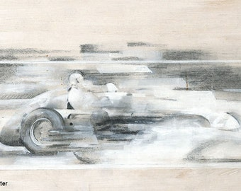 Fangio in the Alfa Romeo Tipo 158/59 Alfetta: Limited edition print.
