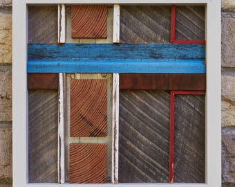 Conversion 1 - reclaimed wood and metal assemblage