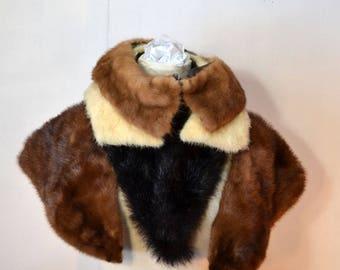 Fur Collars Lot of 3 Fur Collars 1 Faux Fur Collar Fur Stole Recycle