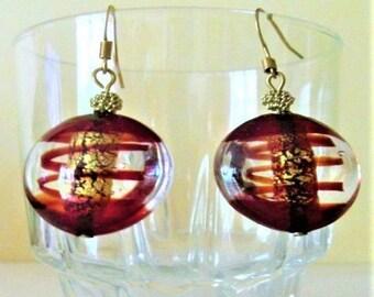 dangle earrings Murano glass beads
