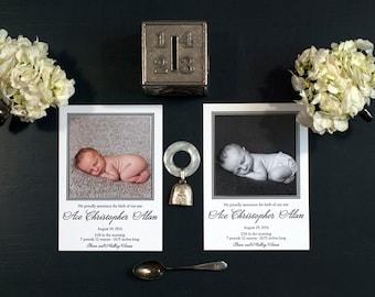Letterpress Photo Birth Announcement   Letterpress Photo Adoption Announcement   Custom Photo Announcement   LARGE Announcement
