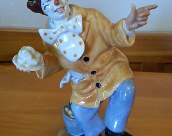 Funny Figurine Pie-In-the-Face Clown - Royal Doulton