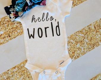 Hello World | Gender Neutral | Custom Bodysuit