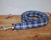 Dog Leash. Homespun. Blue...