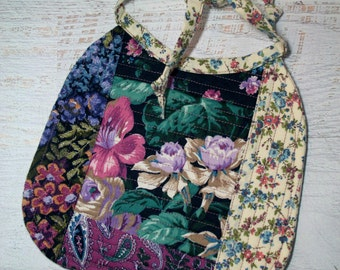 Cotton Floral Tapestry Quilted Baby Girl Bib