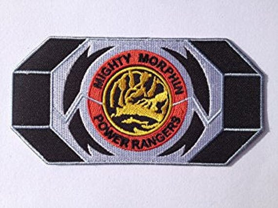 Blue Power Ranger Morpher Patch Embroidered Iron On Badge