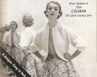 VINTAGE KNITTING/Crocheting Pattern Book - Sweaters, Shawls, Jackets - For Women
