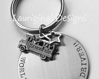 Bus Driver key chain - Bus Driver gift - School bus driver key ring - School bus driver gift