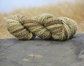 Handspun & Handpainted Merino Wool Yarn, Bulky, 4.5 oz., 125 g., 160 yards, Grasslands