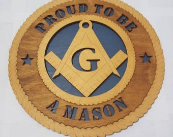 Mason Wall Plaque Wooden Model