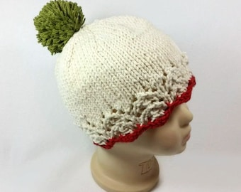 Christmas Baby Hat - Baby Christmas Hat - Christmas Beanie - Christmas Hat with Pom Pom- Toddler Christmas Hat - Gifts for Baby - Photo Prop