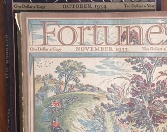 1933/1934 Fortune Magazines (2)