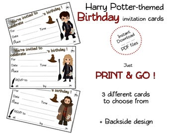 Wizard Birthday Invitation cards for Harry potter fans and little witches and wizards – Birthday party