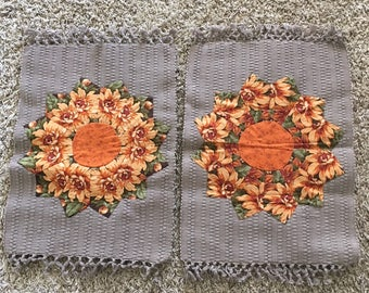 Fall Dresden Plate Placement Set of 2