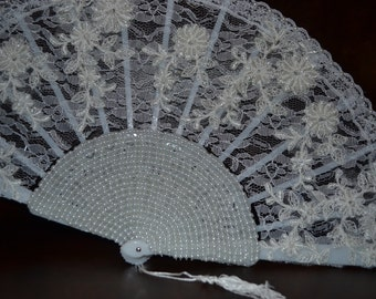 Lace bridal hand fan, Elegant Bridal Fan with lace, Elegant Fan, Bridal Fan, Fancy Wedding Fan, Elegant hand fan, Handmade Fan, hand fan