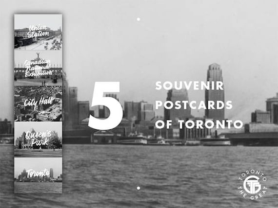 Toronto the Great Greyscale Postcard Set (5)