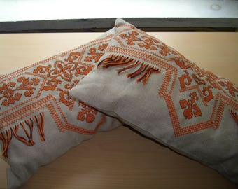 Pillows with hand embroidery