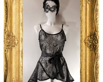 Black Lace Baby Doll Play Suit