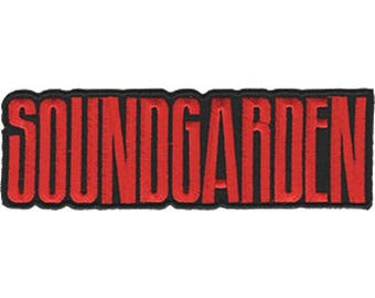 Soundgarden Embroidered Patch, Iron On Applique, Officially Licensed, Alternative Rock Band, Seattle, Grunge, Chris Cornell