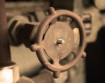 Steampunk Industrial Photograph Gear 8x10 photo