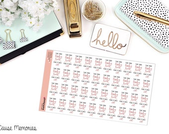 """MCM MANTRAS: """"Take your broken heart..."""" Paper Planner Stickers!"""