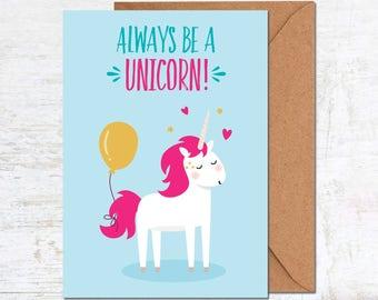 Unicorn Birthday Card, Girl Birthday Card, Birthday Card Friend, Birthday Card Funny, Birthday Card Girlfriend, Cute Birthday Card, Animal