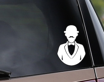 Vinyl Car Decal - Hercule Poirot Inspired - Detective - Sleuth - Mystery