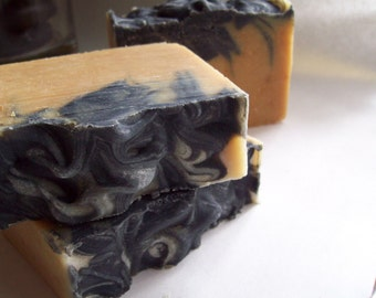 Alpaca Charcoal Soap with Honey - Shea Butter Natural Soap