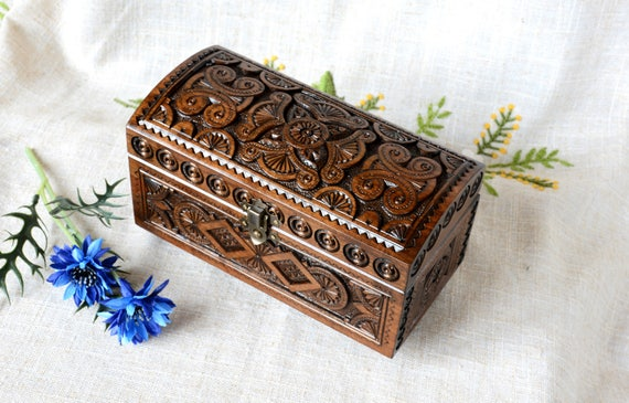 Jewelry box Wooden box Ring box Carved wood box Wooden boxes