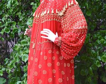 PAR SPOOK Haute Couture 1970 ensemble de soirée brodée