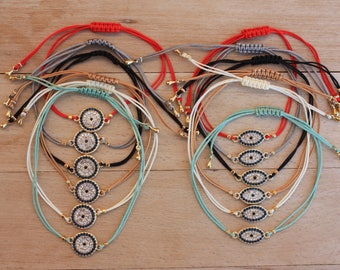 Wholesale Evil Eye Friendship  Bracelet, Zirconia String Bracelets