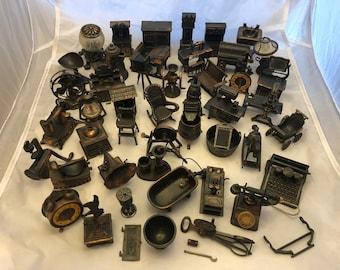 Lot of Over 40 Vintage Durham Industries Metal Miniatures American Greetings Corp Hollie Hobbie