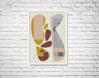 Geometric art, abstract geometric, Instant download, printable wall art, digital wall print, abstract print, printable art, wall art