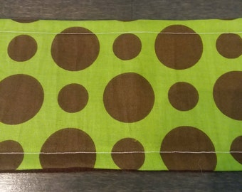 Brown Dots on Lime Male Dog Belly Band - M