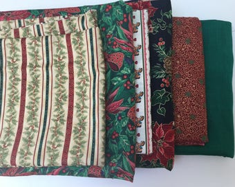 Several Vintage Christmas Fabrics from the 1970's