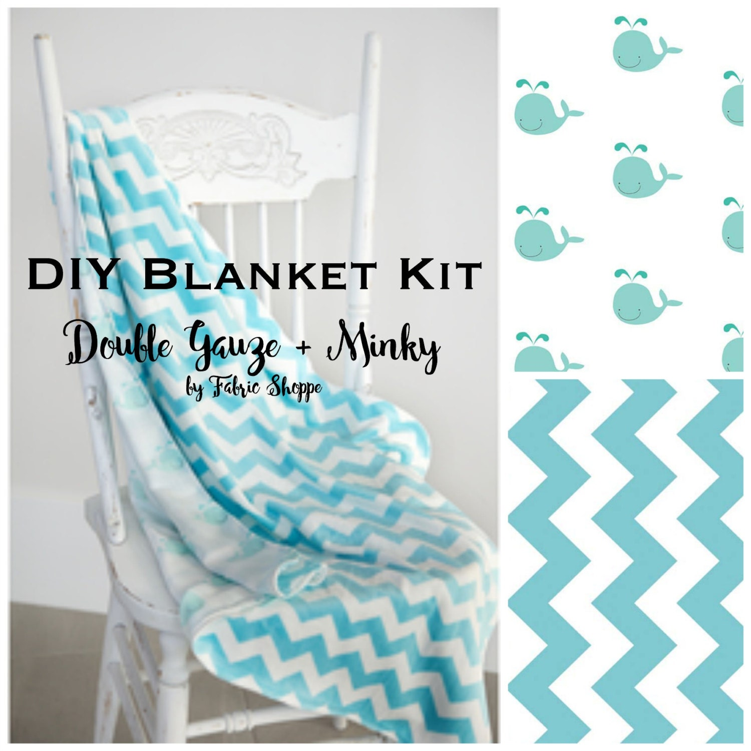 Diy quilt kit baby boy quilt baby blanket kit double gauze fabric diy quilt kit baby boy quilt baby blanket kit double gauze fabric whale fabric chevron baby fabric baby gift make it yourself solutioingenieria Image collections