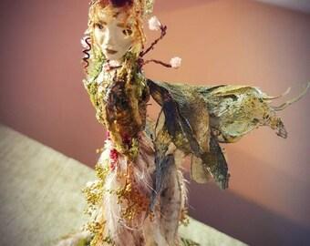 Midsummer Night's Dream-Titania-Botanical Faerie-OOAK- Botanical Art-Eco Art-Fantasy- Vintage Decor-Woodland-Natural Dried Botanicals