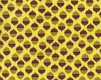 Acorns - Michael Miller Norwegian Woods Acornucopia Forest - FBTY - FBHY - Acorn Nut Fabric