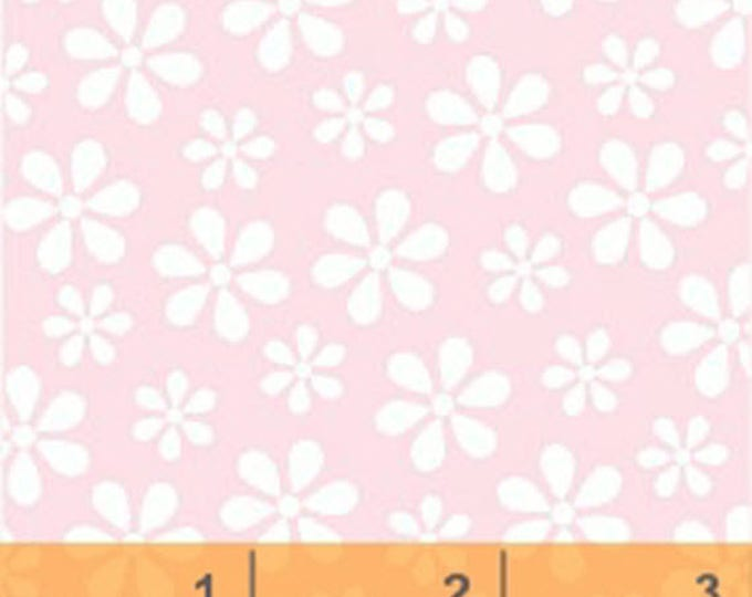 Windham Basic Pastels - Daisy in Light Pink - Pastel Basics Cotton Quilt Fabric Floral Daisies - Windham Fabrics - 29399-12 (W4237)