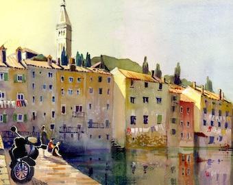 Croatia, Seafront, Rovinj
