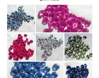 Lab created Gemstones- 5mm round (select color)