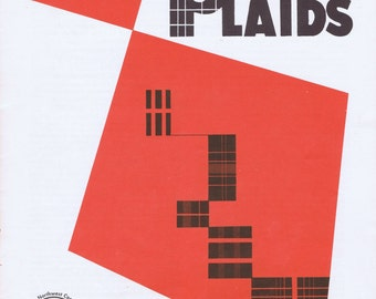Vintage Planning Plaids Sixties Booklet Sewing Clothing Fashion Couture Costume Design Tartans Scotland