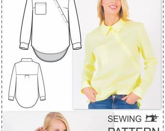 Shirt Pattern - Sewing Patterns - Designer Blouse Pattern - Blouse Sewing Pattern - Top Patterns - Indie Patterns - Sewing Tutorials