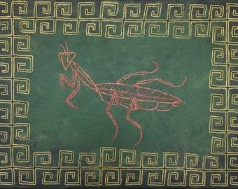 Praying mantis painting