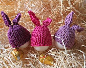 Easter egg cover Easter egg cosies Bunny Rabbit Easter Egg warmers Easter egg cap Egg decorations Bunny Easter egg set easter decoration
