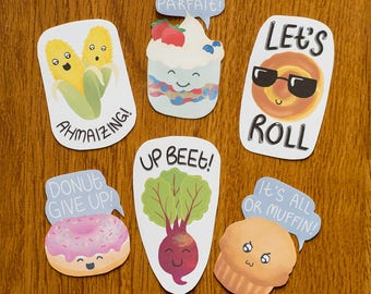 Food Pun Stickers 1