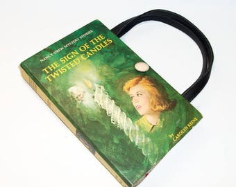 Book Purse Nancy Drew Sign of the Twisted Candles Handbag Upcycled Book Bag Trendy Vintage Book Purse