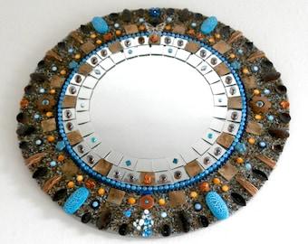 Custom Mirror - Mosaic Mirror - Decorative - Mosaic Art - Mosaic Jewelry