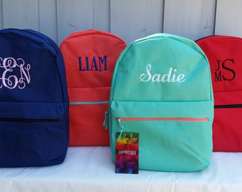 Personalized Backpack, Monogrammed Girls Backpack, Monogrammed Boys Backpack, Embroidered Book Bag, Back To School Items, Book Bag, Backpack